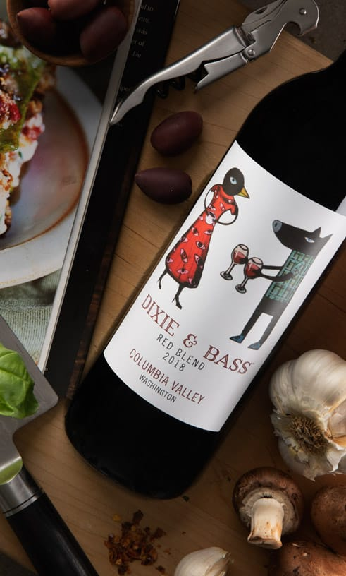 Dixie & Bass Wines - 2018 Red Blend