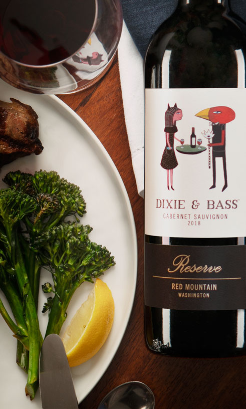 Dixie and Bass 2018 Cabernet Sauvignon - Red Mountain - Dining - Aquilini Wines