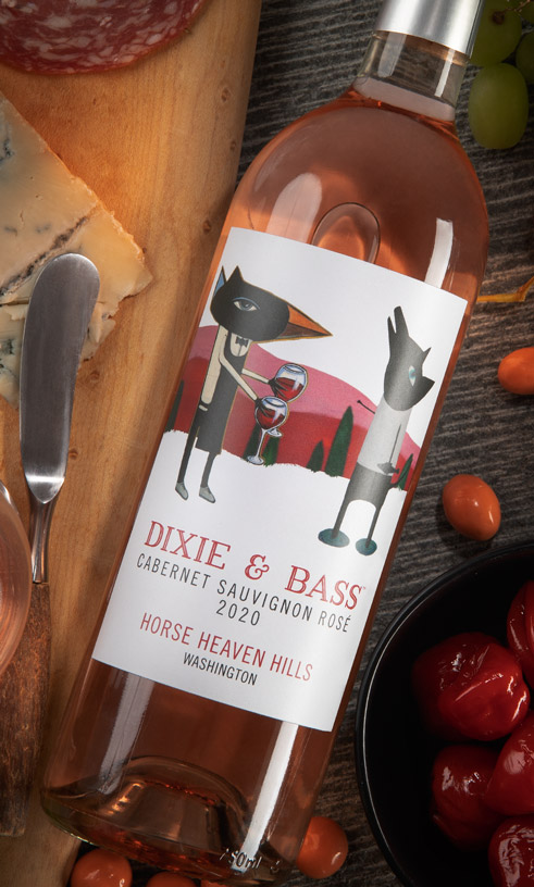 Dixie and Bass 2020 Sauvignon Rose